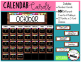 Calendar Cards: Numbers and Special Days (EDITABLE) WOOD THEME