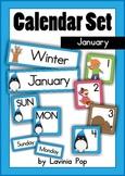 Calendar Cards Set - January