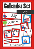 Calendar Cards Set - July
