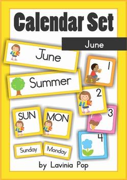 Calendar Cards Set - June
