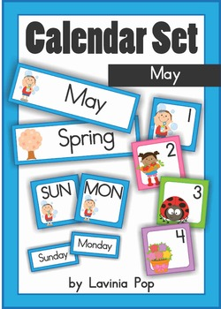 Calendar Cards Set - May
