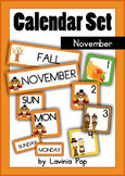 Calendar Cards Set - November