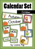 Calendar Cards Set - October
