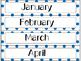 Calendar Cards Set - Polka Dots (Blues)