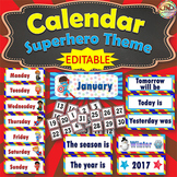 Superhero Themed Calendar Cards - complete 12 month set for student reference
