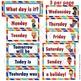 Calendar Cards Set - Superhero Themed