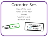 Calendar Cards Set for Morning Meeting