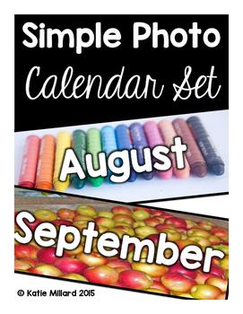 Simple Photo Calendar Set