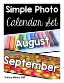 Simple Photo Calendar Set