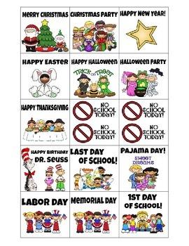 Calendar Cards- Special Occasions