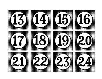 Calendar Number Cards (Star Theme)