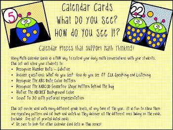 Calendar Cards - Subitizing