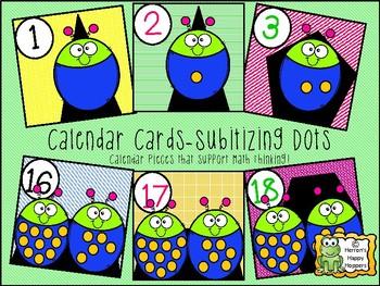 Calendar Date Cards - Subitizing