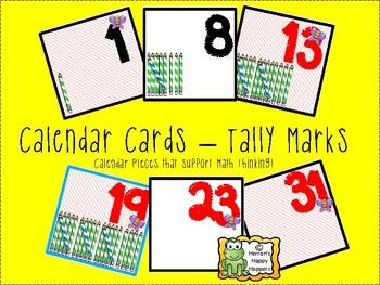 Calendar Date Cards - Tally Marks!