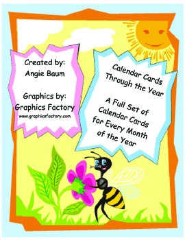 Calendar Cards Through The Year