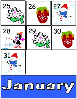 Calendar Cards Through The Year