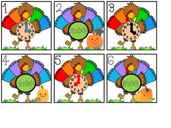 Calendar Cards - Turkey Time