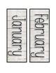 Calendar Cards- White Wood