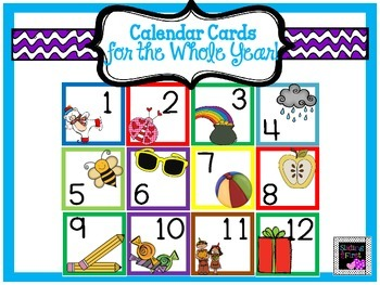 Calendar Cards-Whole Year