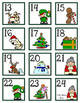 Christmas Calendar Cards and Header - December
