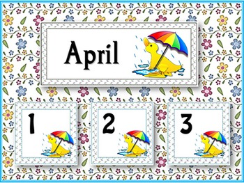 Calendar Cards - April