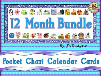 Calendar Cards - 12 Month BUNDLE