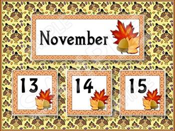 Calendar Cards - November