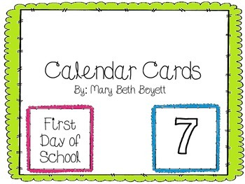 Calendar Cards (multicolor)