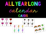 Calendar Cards though the year