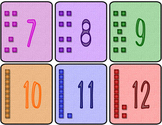 Calendar Cards with Base Ten Block Images - Colorful!