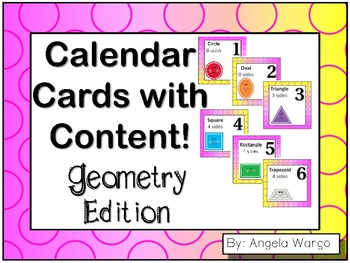 Calendar Cards with Content – Geometry Edition