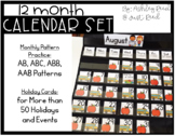 Calendar Cards with Patterns
