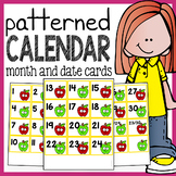 Calendar Numbers - Calendar Cards with Patterns