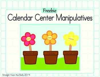 Calendar Center Manipulatives
