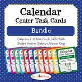 Calendar Center Task Cards Bundle - 12 Months of Calendar
