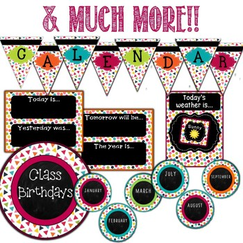 Calendar Chalkboard Confetti Theme