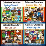 Calendar Characters: Holiday and Seasonal Clip-Art Bundle! 150 pieces!