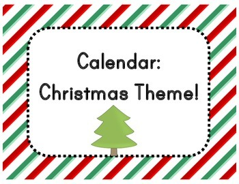Calendar: Christmas Theme  (Pocket Chart)