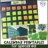 Calendar Morning Meeting Printables for Special Ed / ECE / Kindergarten