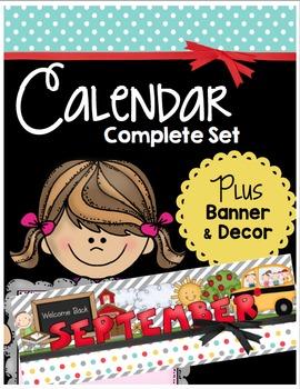 Calendar & Classroom Chalkboard Decor Set - Behavior Chart