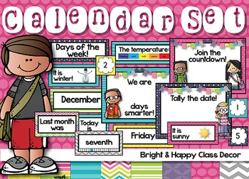 Calendar Classroom Decor (Happy and Bright)