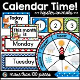 Calendar Classroom Decor (Hipster Animals)