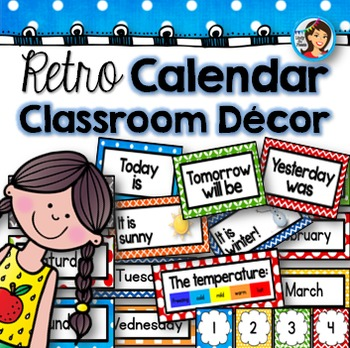 Calendar Classroom Decor (Retro)