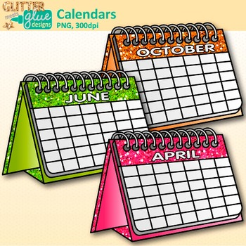 Calendar Clip Art  {Back to School Graphics for Classroom Morning Meetings}