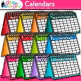 Calendar Clip Art: School Supply Graphics {Glitter Meets Glue}