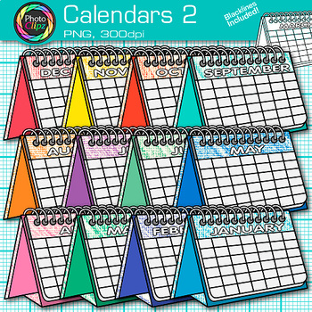 Calendar Clip Art {Back to School Graphics for Classroom Morning Meetings} 2