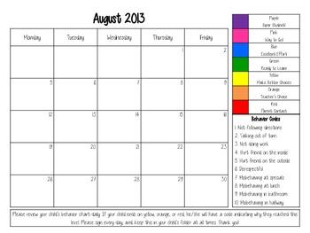 Calendar Clip Chart