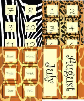 Calendar / Clock Cards (editable)