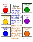 Calendar Color Day Cards (Great for TK or K)