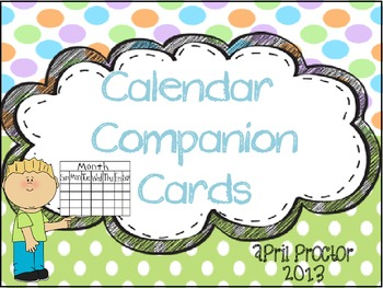 Calendar Companion Cards Colorful Dots